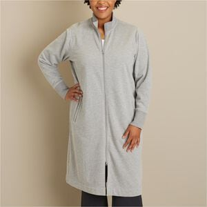 Women's Plus Souped-Up Fleece Zip Up Robe