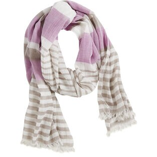 Women's Cotton Striped Scarf ORCHDST ONE SIZE