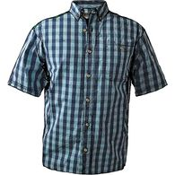 Men's BBQ Short Sleeve Shirt HOBCHCK MED REG