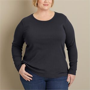 Women's Plus Longtail T Long Sleeve Crewneck