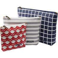 Women's Canvas 3-Pack Printed Pouches