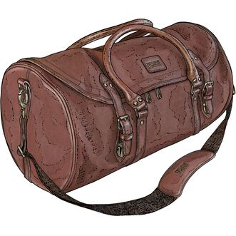 d21699320265 Leather Roundhouse Duffel Bag BROWN Leather Roundhouse Duffel Bag BROWN ...