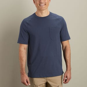 Men's CoolMax Slim Fit Short Sleeve Crew with Pocket