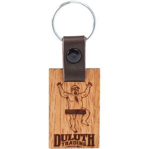 Duluth Trading Buck Wood and Leather Key Chain