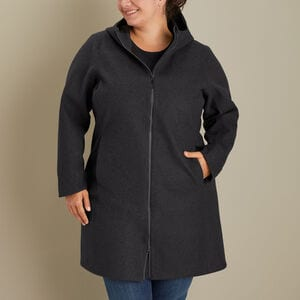 Women's Plus Empire Builder Wool Coat