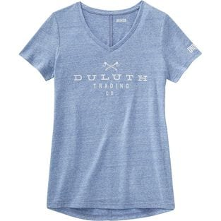 Women's Plus Longtail T Lightweight Slub Logo