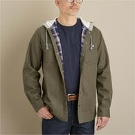 Men's Fire Hose Flannel-Lined Hooded Limber Jac BR
