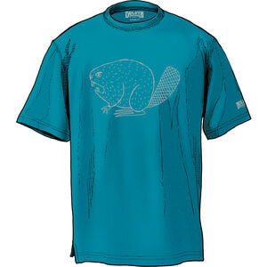 Men's Longtail T Relaxed Fit Angry Beaver Logo T-Shirt