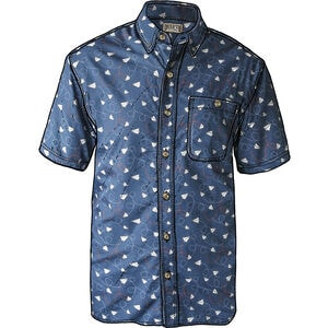 Men's BBQ Slim Fit Short Sleeve Shirt
