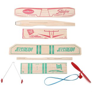 Balsa Wood Airplanes (Squadron of 12)
