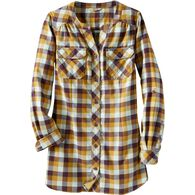 Women's Crosscut Flannel Tunic MNTMCHK LRG