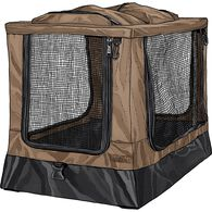 Scout's Large Collapsible Dog Crate BROWN