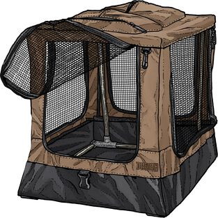 Scout's Medium Collapsible Dog Crate BROWN
