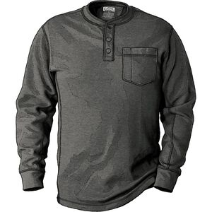 Men's Burly Thermal Relaxed Fit Henley Shirt