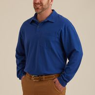 Men's Longtail T Long Sleeve Polo with Pocket AGAV