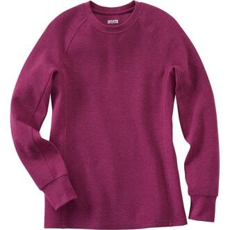 f04a7988d649 Women's Longtail T Winter Waffle Crewneck | Duluth Trading Company
