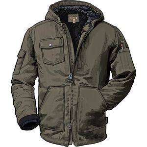 Men's Superior Fire Hose Hooded Jacket