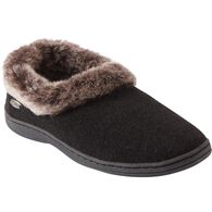 Women's Acorn Chinchilla Slippers BLACK LRG MED