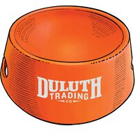 Duluth Trading Silicone Dog Bowl ORANGE
