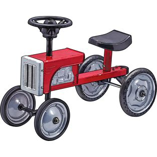 Metal Tractor RED