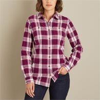Women's Free Swingin' Flannel Shirt RVTPLAD XSM