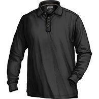 Men's No Polo Long Sleeve Shirt BLACK MED REG