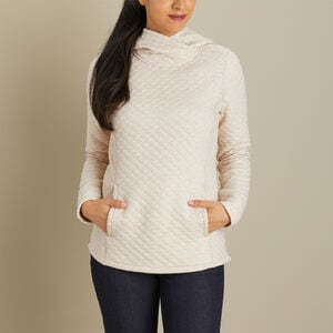 Women's Quilted Sweatshirt Popover