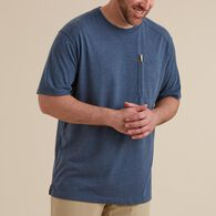 Men's Dry on the Fly Crew T-Shirt with Pocket BLAC
