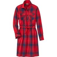 Women's Free Swingin' Flannel Dress CREOMBR XSM