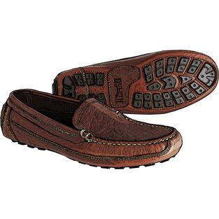 Men's Bison Leather Driving Moccasins
