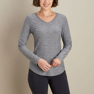 Women's Armachillo Long Sleeve V-Neck T-Shirt BLUM