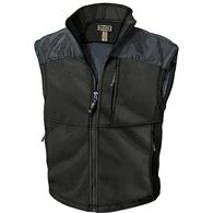 Men's Shoreman's Fleece Grid-Lock Vest BLACK MED R