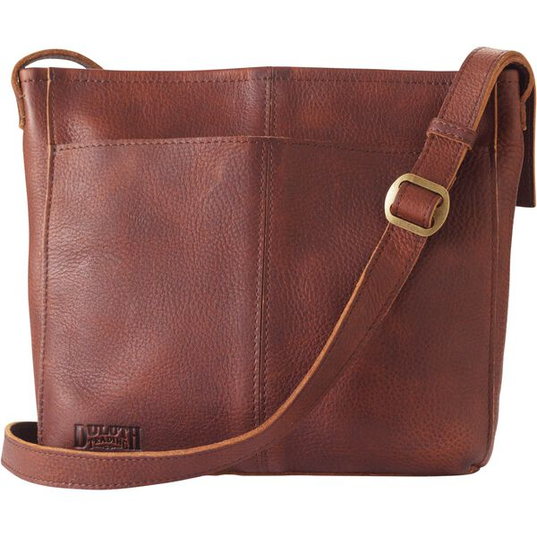 Women's Lifetime Leather Medium Sling Bag BROWN