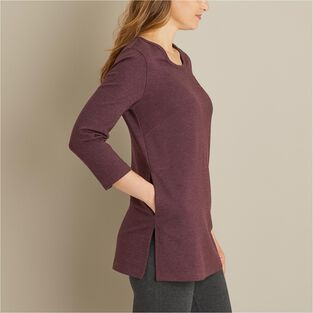 Women's Wearwithall Ponte Knit 3/4 Sleeve Tunic