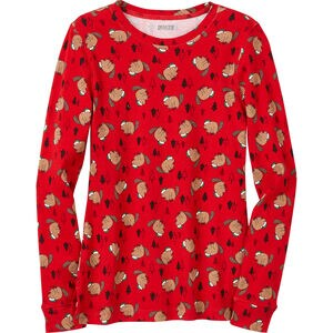 Women's Pattern Pajama Long Sleeve Shirt