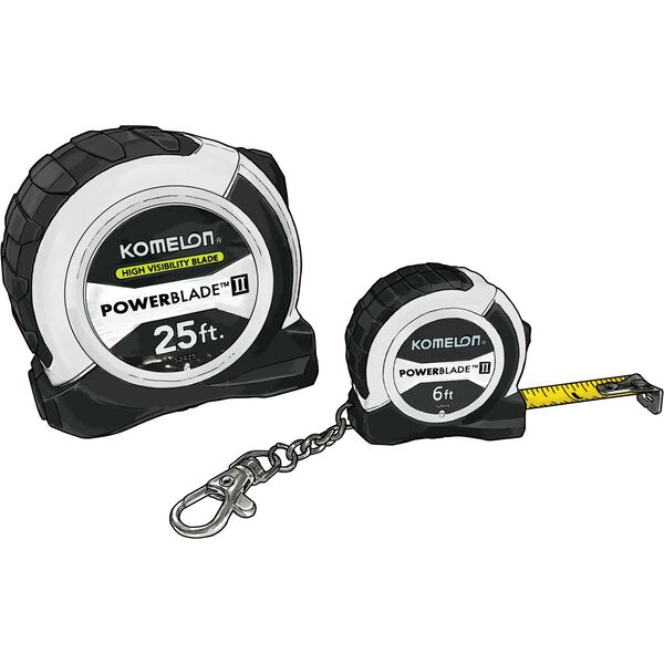 Komelon Tape Measurer Combo WHITE