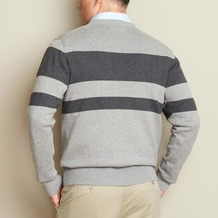 Men's Strongarm Cotton Crew Stripe Sweater