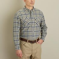 Men's Free Swingin' Long Sleeve Plaid Shirt SRBCHA