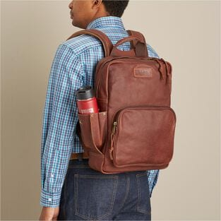 Dodge City Leather Backpack