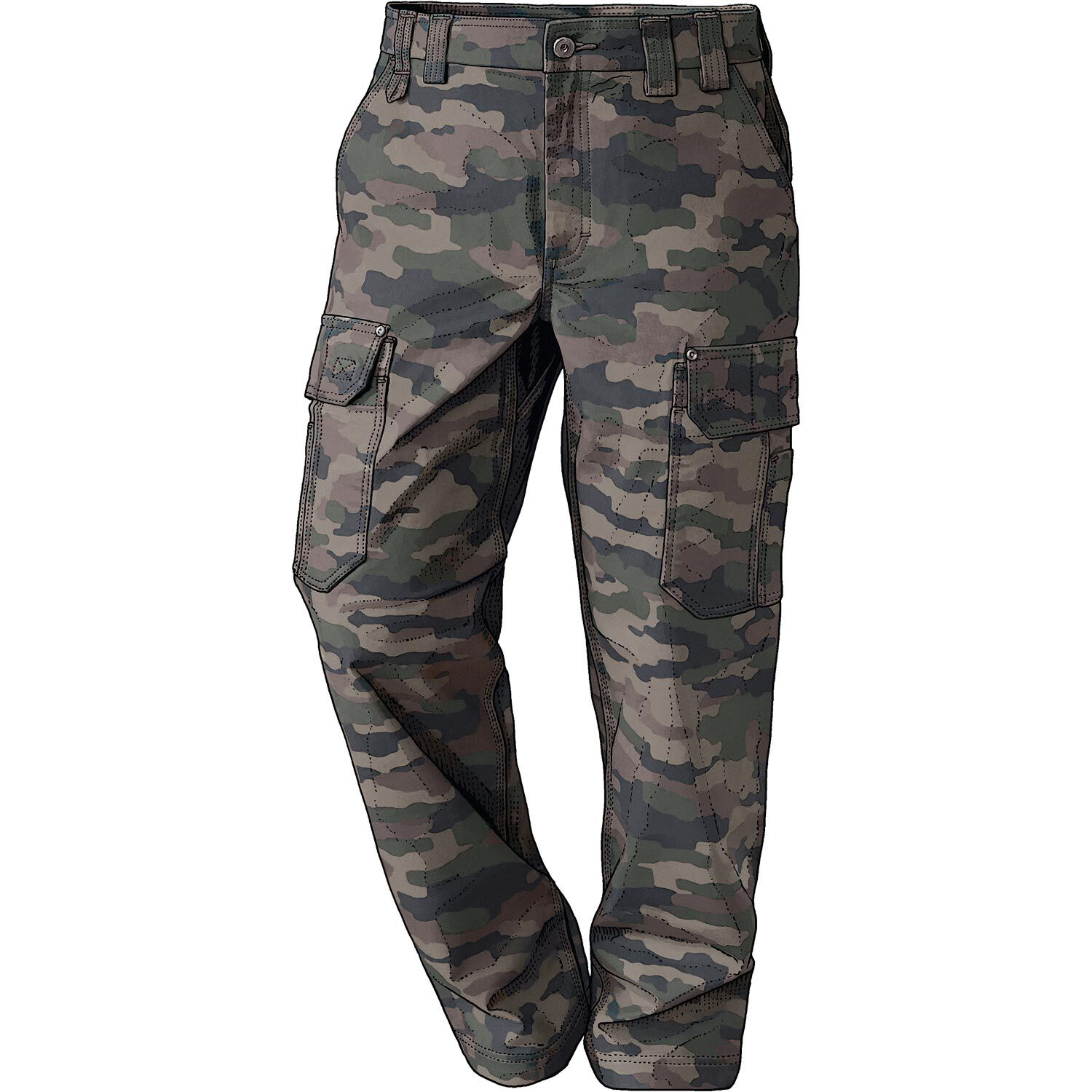 Men/'s Plus Size Trousers Pockets Loose Fit Buttons Sports Military Cargo Pants