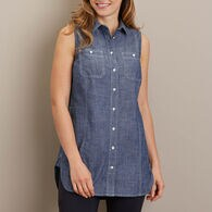 Women's Chambray Button Down Tunic INDGCHB XSM