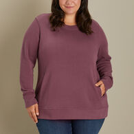 Women's Plus Rib Crewneck Sweatshirt