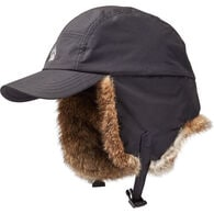 Men's Alaskan Hardgear Ushanka Fur Ball Cap BLACK