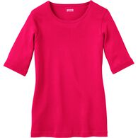 Women's Longtail T Elbow Sleeve Scoop Neck DRGNFRT