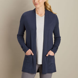 Women's Draped Open Cardigan