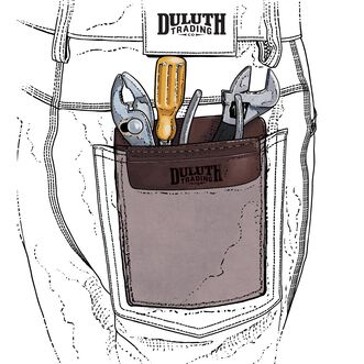 Tradesman's Leather Pocket Saver DRKBRWN ONE SIZE