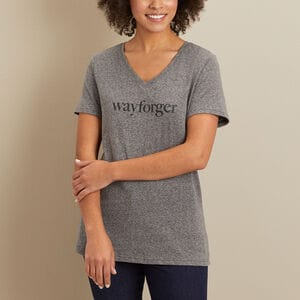 Women's Longtail T Lightweight Slub V-Neck Logo