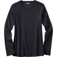 Women's Plus Longtail T Long Sleeve Crew Neck BLAC