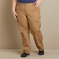 Women's Plus Fire Hose Relaxed Cargo Pants BLACK 1