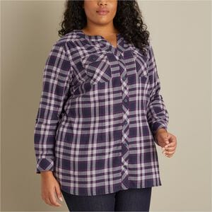 Women's Plus Crosscut Wicking Flannel Tunic